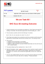 Task 60 PVT Systems Newsletter