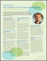 Interview with Daniel Mugnier: New Generation Solar Cooling & Heating Systems