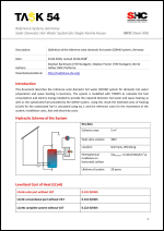 INFO Sheet A08: Reference System, Germany Solar domestic hot water system for single family house