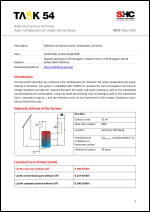 INFO Sheet A09: Reference System, Germany Solar Combisystem for single-family house