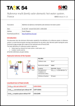 INFO Sheet A15: Reference multi-family solar domestic hot water system. France - <b>NEW</b>