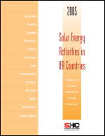 Solar Energy Activities in IEA Countries 2005