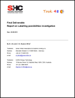 Report on Labelling possibilities investigation